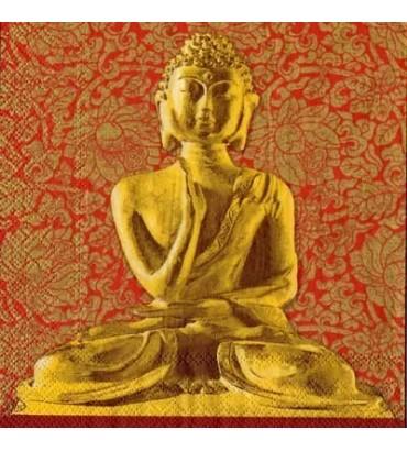 Serviette bouddha or