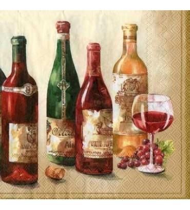 Serviette bouteille de vin