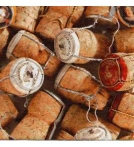 Serviette bouchons de champagne