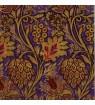 Serviette  arabesques fond violet
