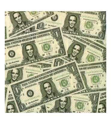 Serviette  dollars