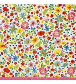 Serviette mille fleurs