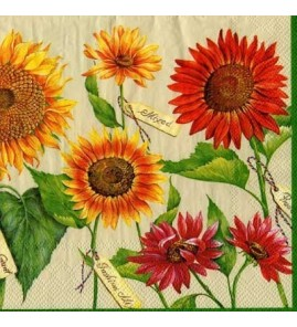 Serviette tournesols multiples