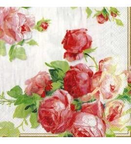Serviette roses anglaises victoria