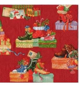 Serviette cadeaux de Noël