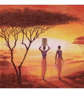Serviette africa preparing a new day