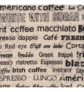 Serviette écriture coffee