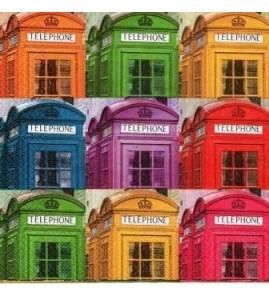Serviette cabines téléphoniques