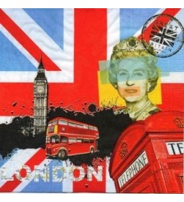 Serviette Londres bbr