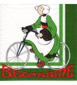 Serviette bécassine bicyclette