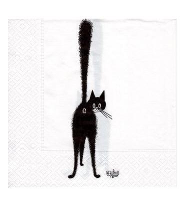 Serviette chat dubout-le 3ème oeil
