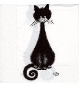 Serviette chat dubout -spirale