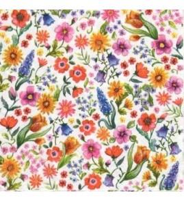 Serviette jolies fleurs