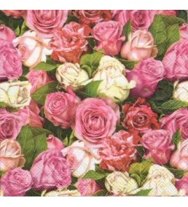 Serviette roses all over