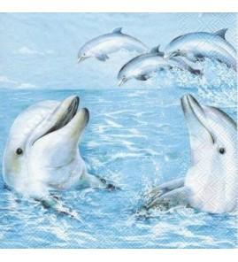 Serviette dauphins