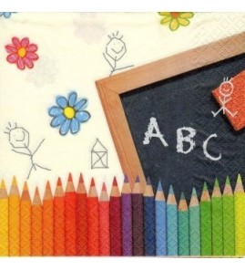 Serviette ABC school