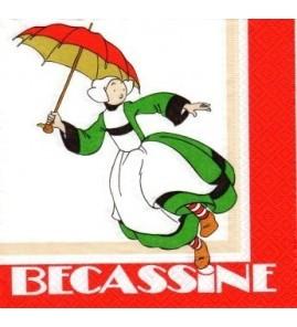 Serviette Bécassine parapluie