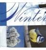 Serviette mésange winter