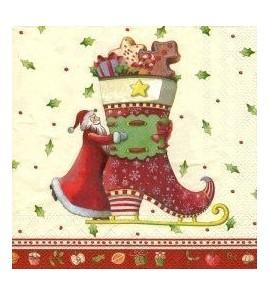 Serviette Villeroy et Boch botte de Noël