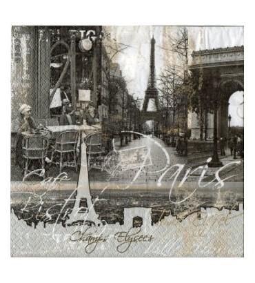 Serviette Champs Elysées Vintage
