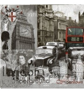Serviette London Vintage