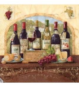 Serviette Bouteilles de vin arcade
