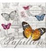 Serviette Papillons carte postale