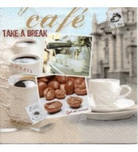 Serviette Café Take a break