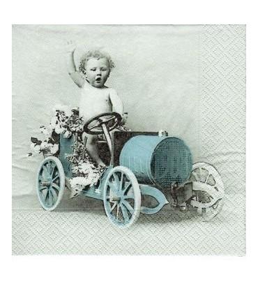 Serviette garçon voiture