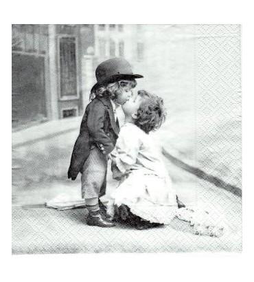 Serviette baisers d'enfants