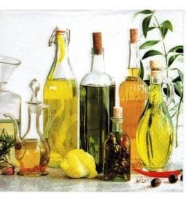 Serviette bouteilles d'huile