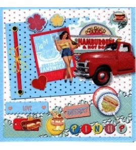 Serviette Hamburger & hot dog