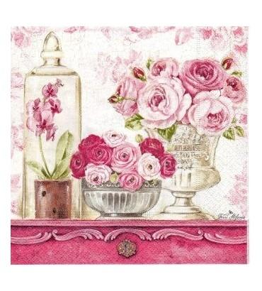 Serviette shabby roses