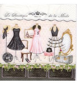 Serviette «boutique de la mode»