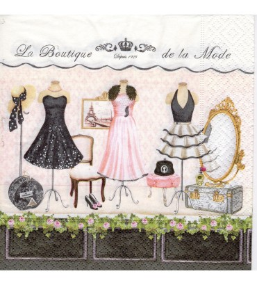 Serviette « boutique de la mode »