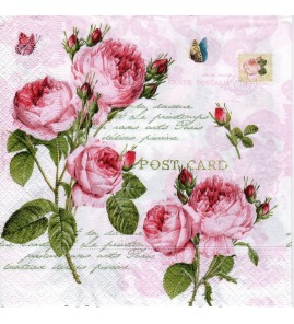Serviette « romantic roses »