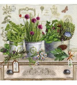 Serviette «herbarium»