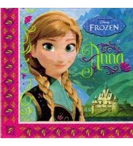 Serviette «la reine des neiges»