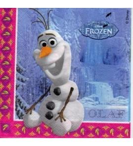 Serviette «Olaf Reine des neiges»