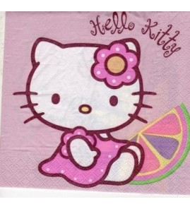 Serviette « Hello Kitty »