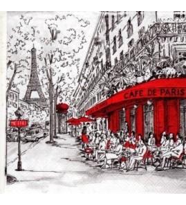 Serviette «nouveau café de Paris»