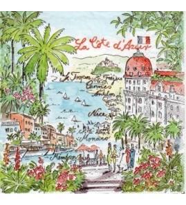 Serviette «côte d'Azur»