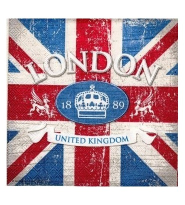 Serviette London drapeau vintage