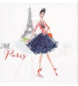Serviette « j'aime Paris »