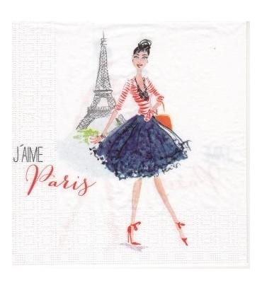 Serviette «j'aime Paris»