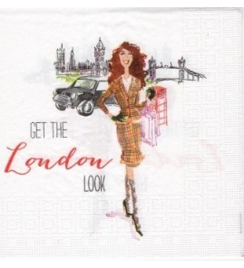 Serviette « get the london look »