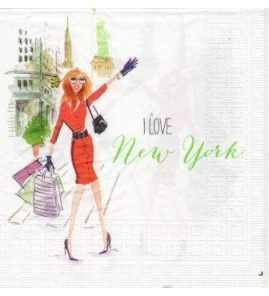 Serviette « I love New york »