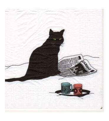 Serviette «chat journal»