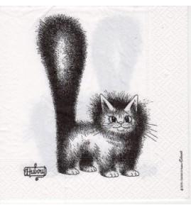 Serviette «chat dubout Mignon»