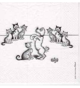 Serviette « chat dubout dressage de chiens »